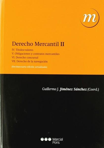 DERECHO MERCANTIL. TOMO II.