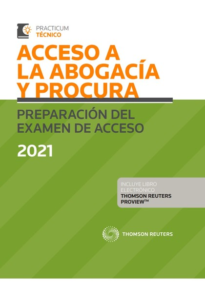 ACCESO A LA ABOGACIA Y PROCURA PREPARACION EXAMEN 2021 DUO.