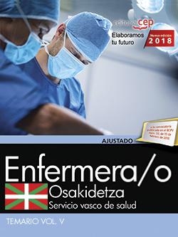 ENFERMERA/O. SERVICIO VASCO DE SALUD-OSAKIDETZA. TEMARIO. VOL.V