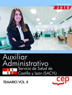 AUXILIAR ADMINISTRATIVO. SERVICIO DE SALUD DE CASTILLA Y LEÓN (SACYL). TEMARIO V.