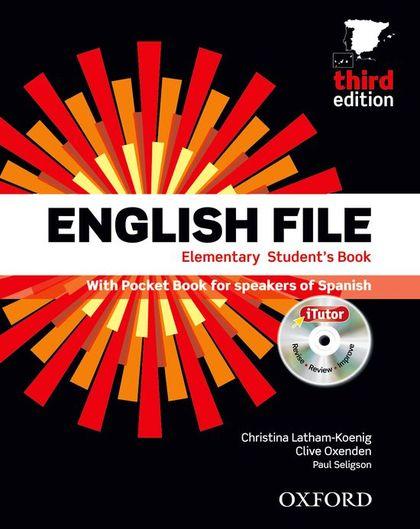 ENGLISH FILE ELEM SB+WB W/K PK 3ED.